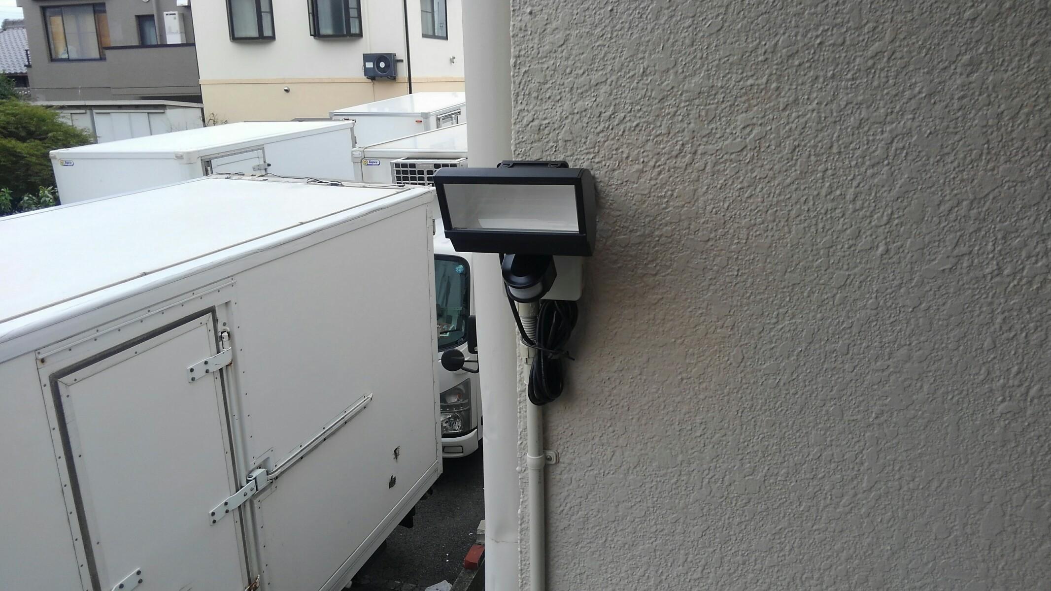 名古屋市でのセンサーライト設置工事
