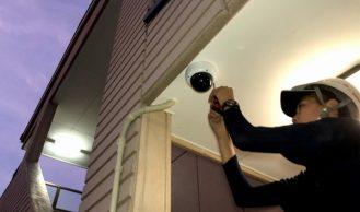 岐阜県での防犯カメラ設置工事